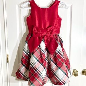 🎅🏻 Gymboree Girls Plaid Pouf Christmas Dress